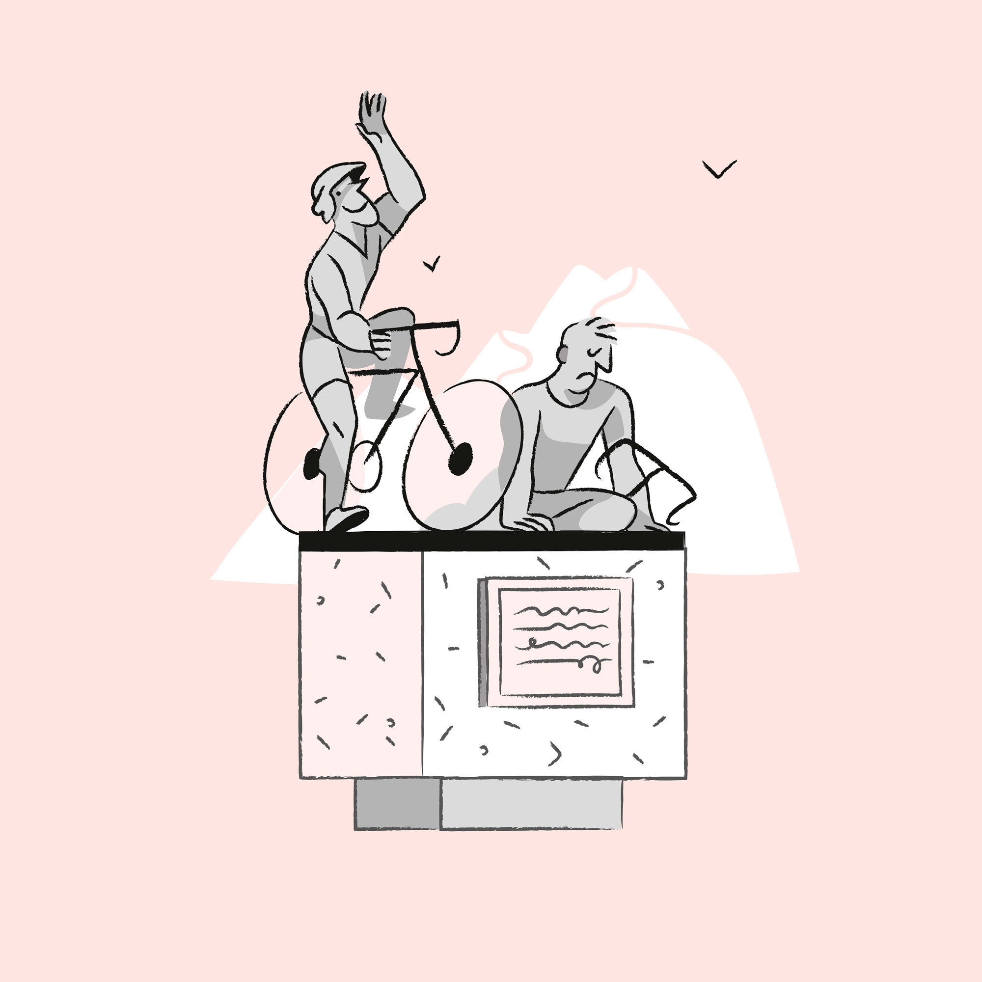 Ciclostile - Monumenti ai ciclisti